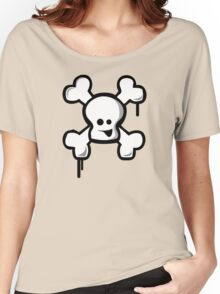 Happy Skull Women's Relaxed Fit T-Shirt