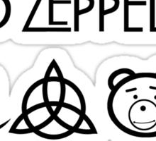 TED Zeppelin Rocks! Sticker