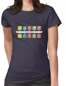 Retro Motel Sign Womens Fitted T-Shirt