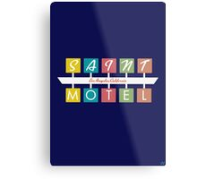 Retro Motel Sign Metal Print