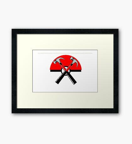 POKEWALL Framed Print