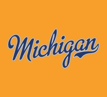 Michigan Script Blue by USAswagg