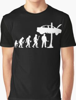 Evolution Of Man and Mechanic Funny Shirt Graphic T-Shirt