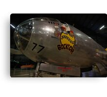 Block's Car the Second Atomic Bomber Canvas Print