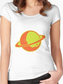 THE MOON SLEEPS ON SATURN Women's Fitted Scoop T-Shirt