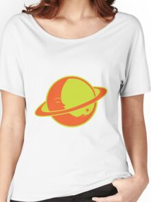 THE MOON SLEEPS ON SATURN Women's Relaxed Fit T-Shirt