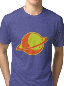 THE MOON SLEEPS ON SATURN Tri-blend T-Shirt