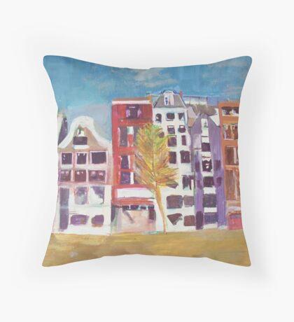 A Spanish Resort Throw Pillow