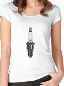 ASH VS EVIL DEAD Pablo Spark Plug NGK R Women's Fitted Scoop T-Shirt