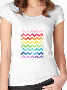 Rainbow Watercolour! Women's Fitted Scoop T-Shirt