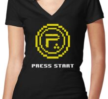 Periphery 8-bit Yellow/Ketchup vs. Mustard Women's Fitted V-Neck T-Shirt