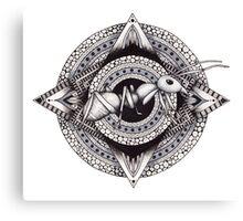 Ant Mandala Canvas Print