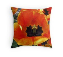 Abandoned Tulips Throw Pillow