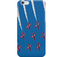Diamond Nine Roll - The Red Arrows !! - Farnborough 2014 iPhone Case/Skin