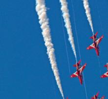 Diamond Nine Roll - The Red Arrows !! - Farnborough 2014 Sticker