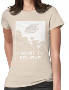 i want to believe (enterprise) Womens Fitted T-Shirt
