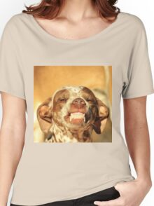 Smiling Dog - Funny Life and Honest Joy  Women's Relaxed Fit T-Shirt