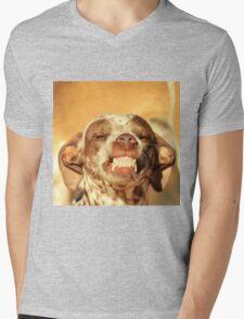 Smiling Dog - Funny Life and Honest Joy  Mens V-Neck T-Shirt