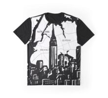 NYC, Black and White City Graphic T-Shirt