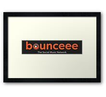 Bounceee-The Social Music Network (Text Logo) Framed Print