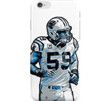 Luke Kuechly Fan Art (T-Shirts, Phone cases & more) iPhone Case/Skin