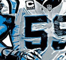 Luke Kuechly Fan Art (T-Shirts, Phone cases & more) Sticker