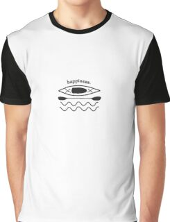 Kayaking is Happiness illustration  Graphic T-Shirt
