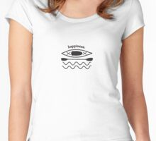 Kayaking is Happiness illustration  Women's Fitted Scoop T-Shirt