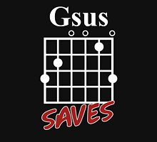 Gsus Saves Chord T-Shirt, Funny Christian Love Guitar Gift Shirt, Love Jesus T-Shirt Unisex T-Shirt
