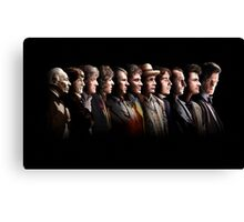 Doctor Who - the Eleven Doctors Canvas Print