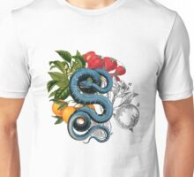 Antique Snake & Fruit Collage  Unisex T-Shirt