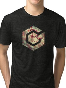 Gamecube Floral Tri-blend T-Shirt