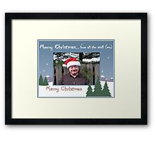 """Merry Christmas... from all the staff (me)""... prints and products Framed Print"