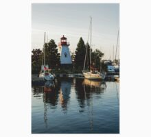Picture Perfect - Little Lighthouse Framed by Yachts Kids Tee