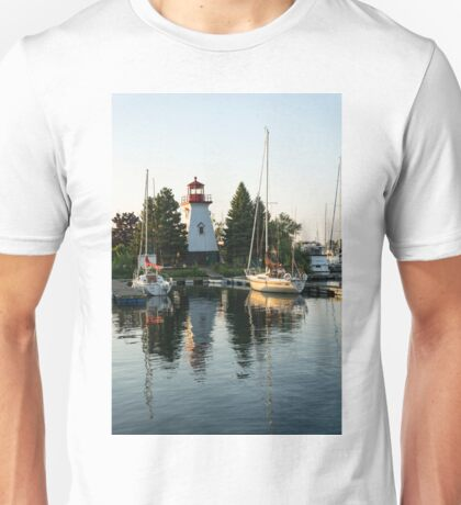 Picture Perfect - Little Lighthouse Framed by Yachts Unisex T-Shirt