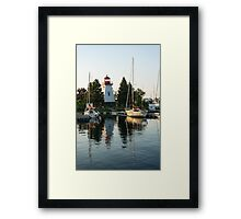 Picture Perfect - Little Lighthouse Framed by Yachts Framed Print