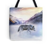 Silver Morning Mists Tote Bag