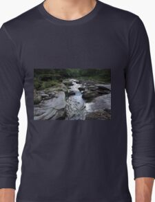 Stream and Rocks in PA Long Sleeve T-Shirt