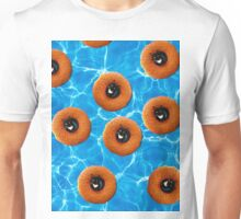 Floating Cat Donut Party Unisex T-Shirt