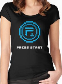 Periphery 8-bit Blue/Select Difficulty Women's Fitted Scoop T-Shirt