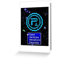 Periphery 8-bit Blue/Select Difficulty Greeting Card
