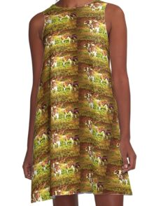 """""""Buttercup Shows Off Her Shiny New Earrings""""... prints and products A-Line Dress"""