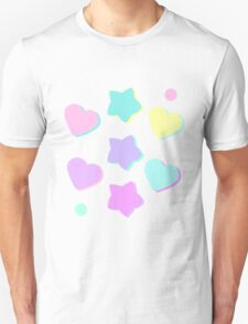 Candy hearts and stars! Unisex T-Shirt