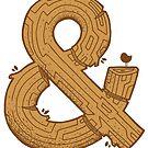 Wooden Ampersand by Blake Stevenson