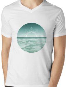 Sunrise in Aqua Mens V-Neck T-Shirt