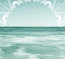 Sunrise in Aqua Sticker