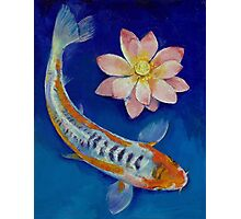 Koi Fish and Lotus Photographic Print