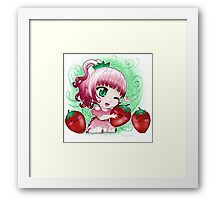 Strawberry chibi Framed Print