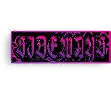 Sideways Dark Bumper Slap Canvas Print