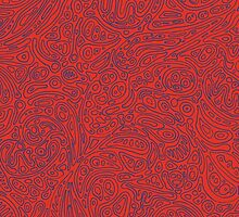 Abstract #002 Cells (Red) by Jason Castillo